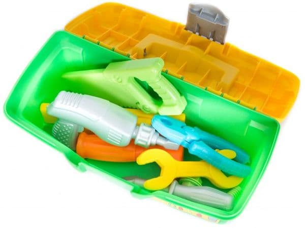 Kids toy tools set 12pc with tool box great for pretend role play junior DIY building construction fun